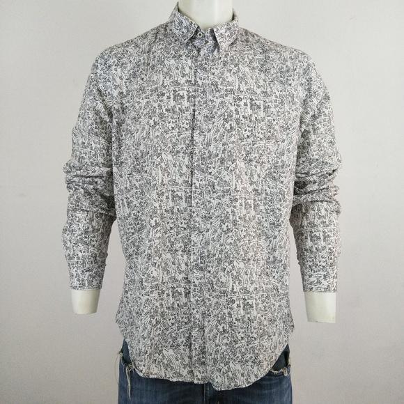 67b0f3aa Zara Man printed man's long sleeve dress shirt. M_5b3c599ebb7615979fd1fad2